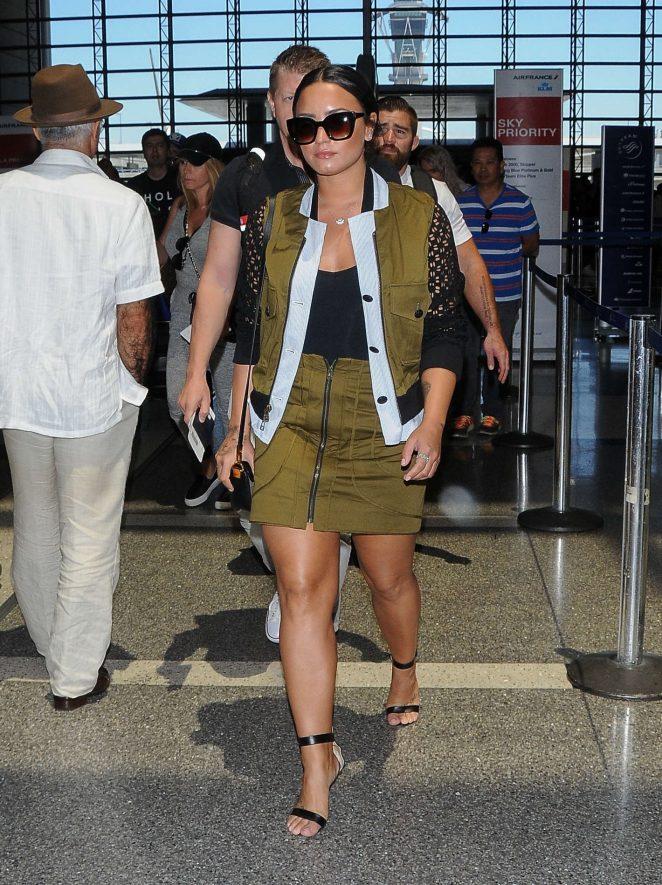 Demi Lovato: Seen At LAX Airport -03