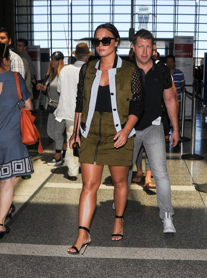 Demi Lovato: Seen At LAX Airport -06