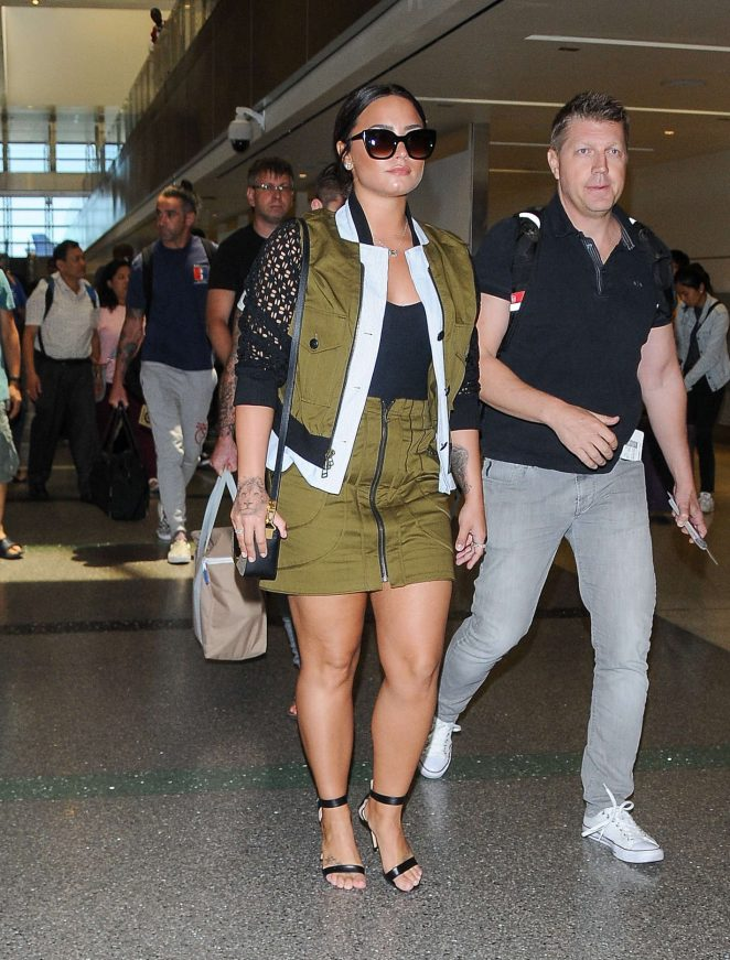 Demi Lovato: Seen At LAX Airport -09