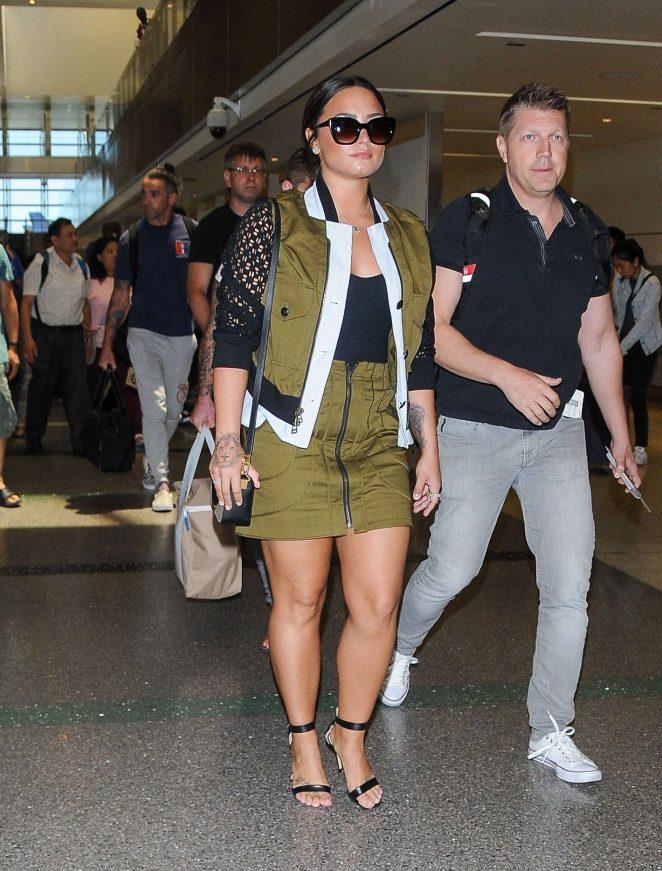Demi Lovato: Seen At LAX Airport -09
