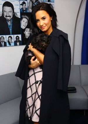 Demi Lovato - SiriusXM studios in New York