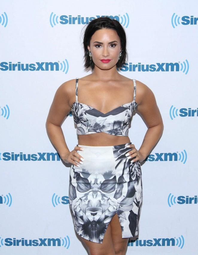 Demi Lovato - SiriusXM Studios in NYC