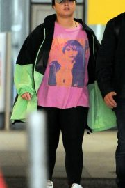 Demi Lovato - Spotted at Heathrow Airport in London
