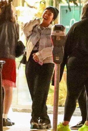Demi Lovato - Steps out for ice cream with friends in Larchmont Village