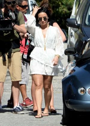 Demi Lovato - Victoria's Secret Swim Special shoot in St. Barth