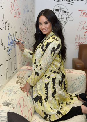 Demi Lovato - Visits Music Choice at Music Choice Studios in New York City
