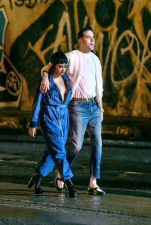 Demi Lovato - With Rapper G-Eazy get Close on set of their Music Video in Los Angeles