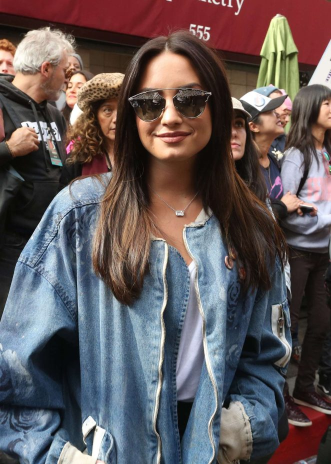 Demi Lovato - Women's March on Los Angeles