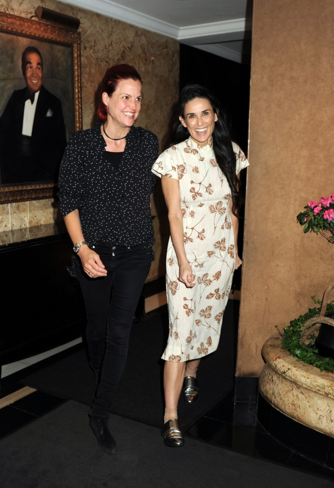 Demi Moore at Rumer Willis Performing at The Cafe Carlyle in NYC