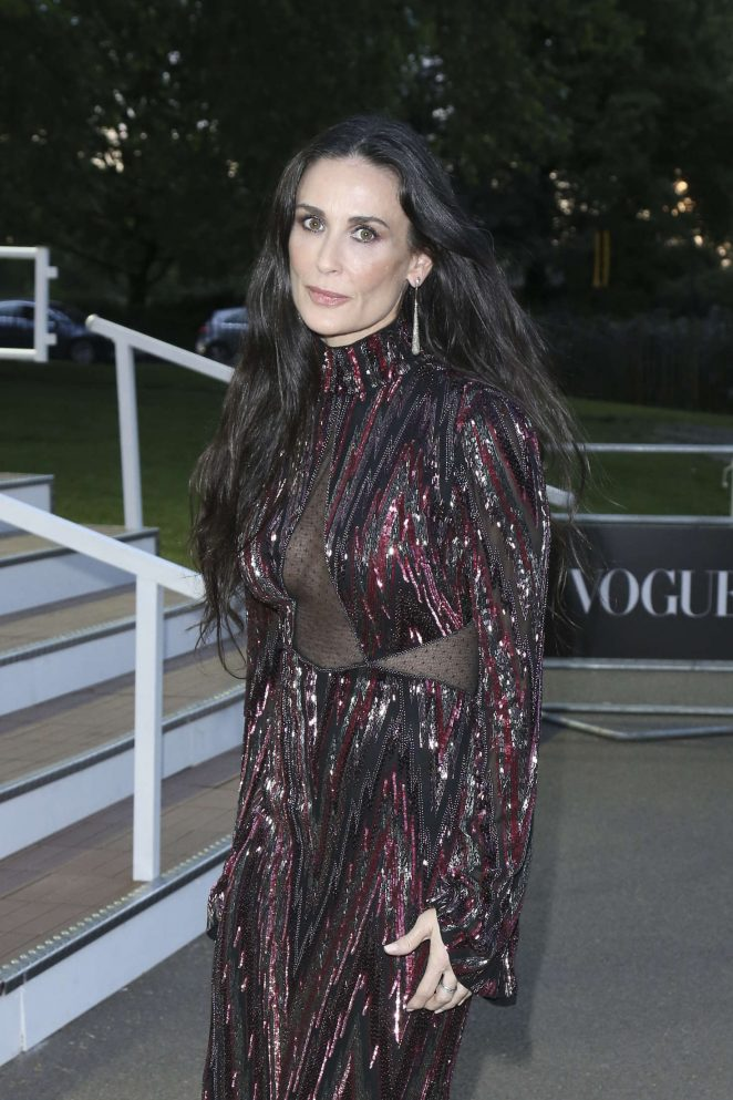 Demi Moore - British Vogue 100th Anniversary Gala Dinner in London