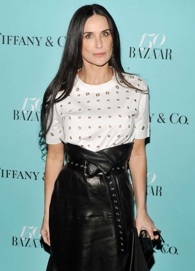 Demi Moore - Harper's Bazaar and Tiffany and Co Celebrate 150 Years in NYC