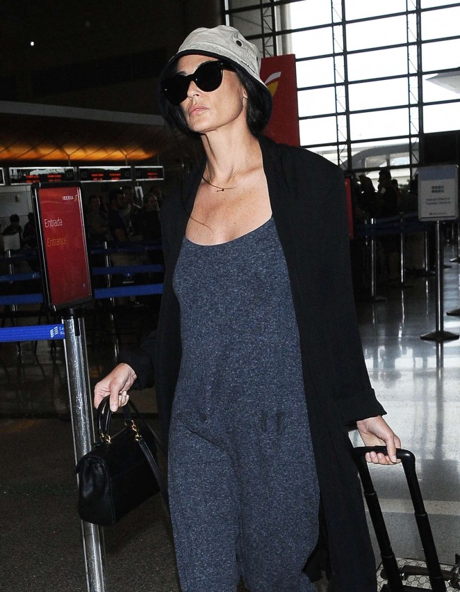 Demi Moore - LAX airport in LA