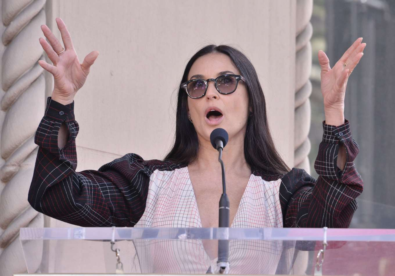 Demi Moore 2019 : Demi Moore: Lucy Liu Hollywood Walk of Fame Ceremony in Hollywood-03
