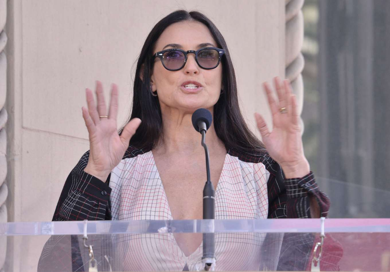 Demi Moore 2019 : Demi Moore: Lucy Liu Hollywood Walk of Fame Ceremony in Hollywood-04