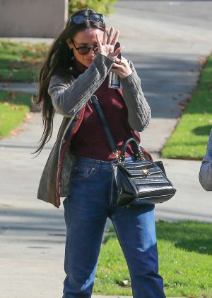 Demi Moore out in Los Angeles