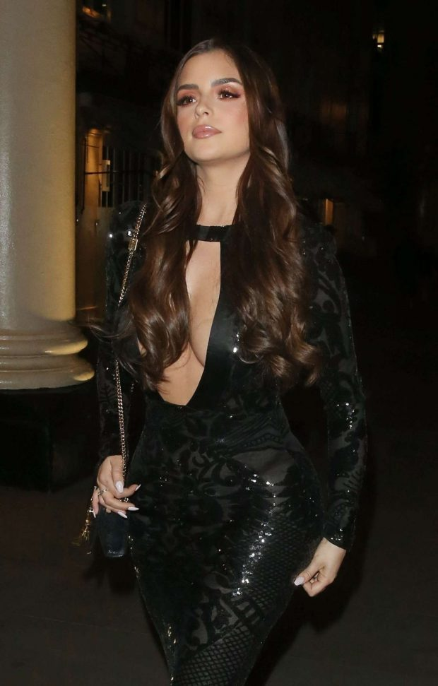 Demi Rose at the Farzi Cafe in London