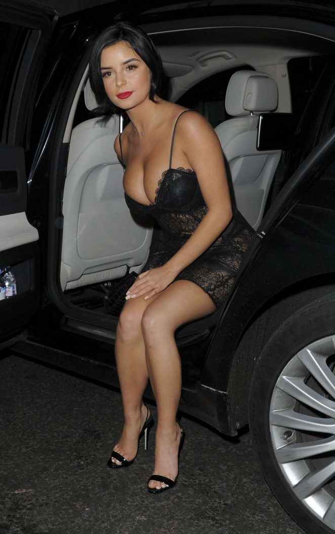 Demi Rose at The Sixty6 Magazine Launch With Erin Budina in London