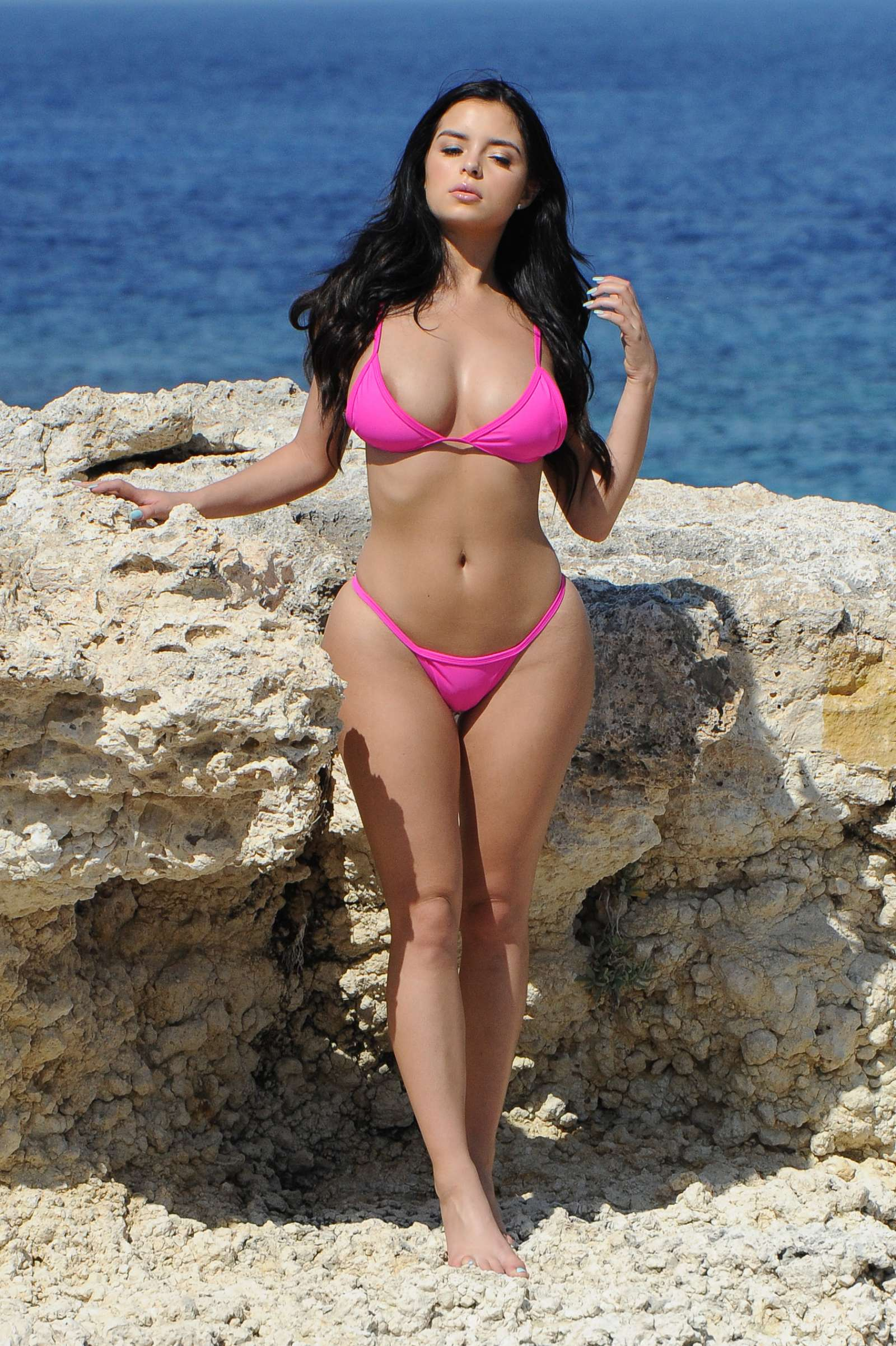 Demi Rose – Bikini Photoshoot in Santorini | Indian Girls