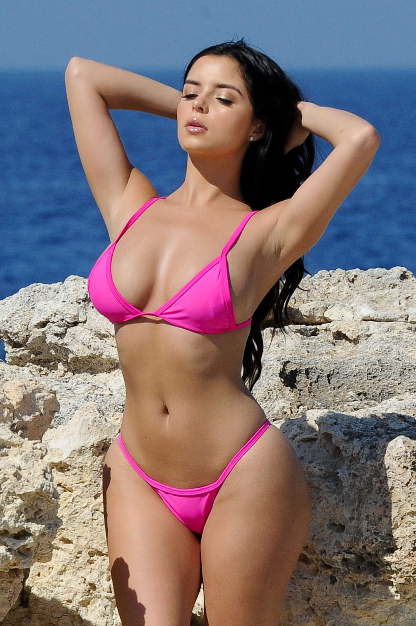 Demi Rose – Bikini Photoshoot in Santorini