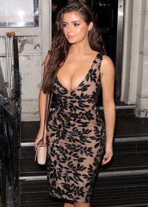 Demi Rose - Ccelebrating her 24th birthday in London