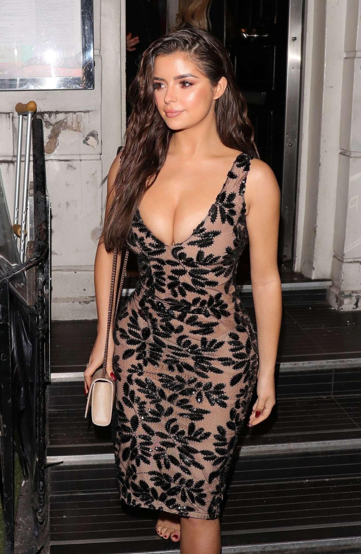 Demi Rose - Ccelebrating her 24th birthday in London