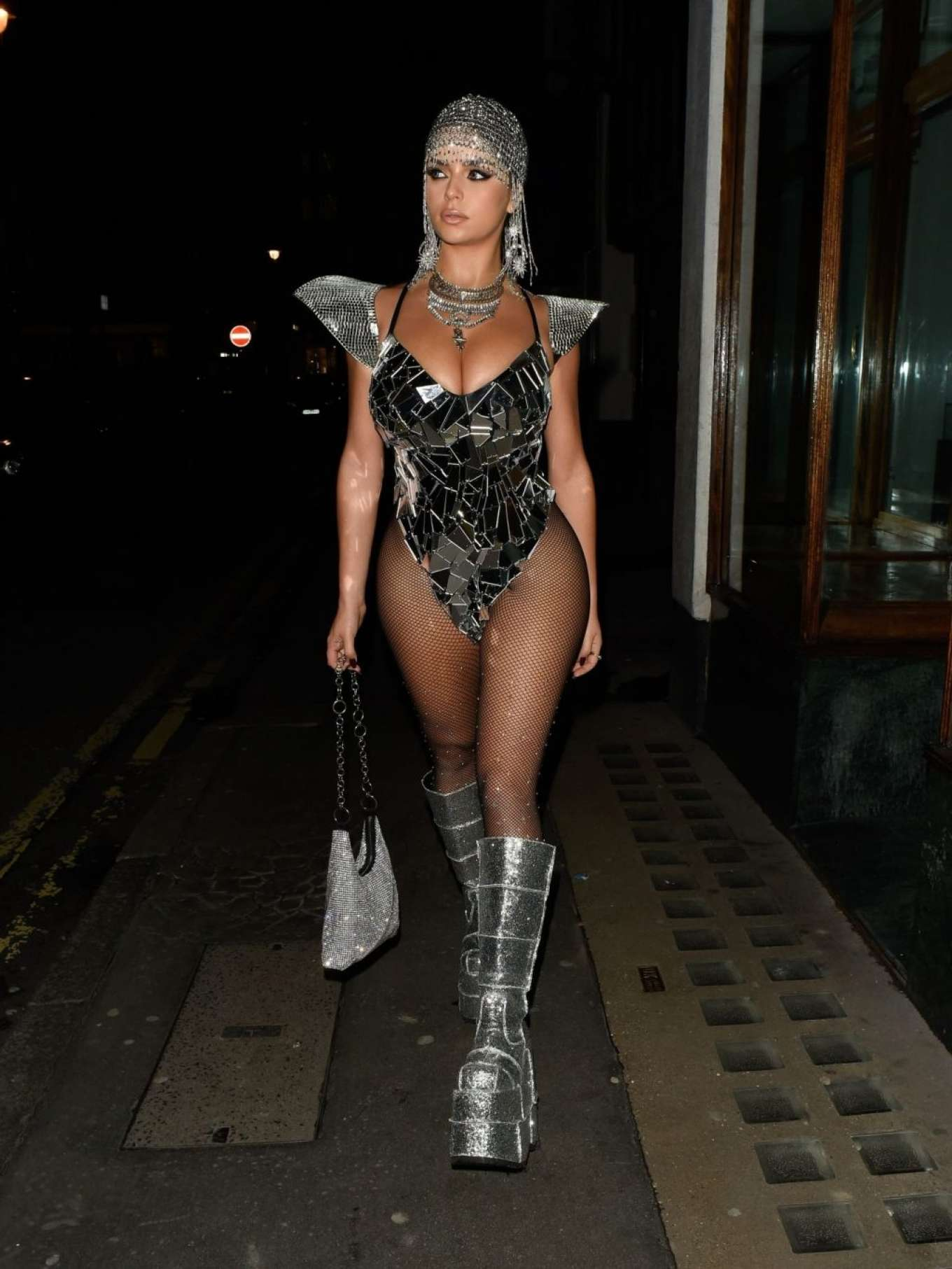 Demi Rose 2019 : Demi Rose – Heading to Halloween Party in Mayfair-03