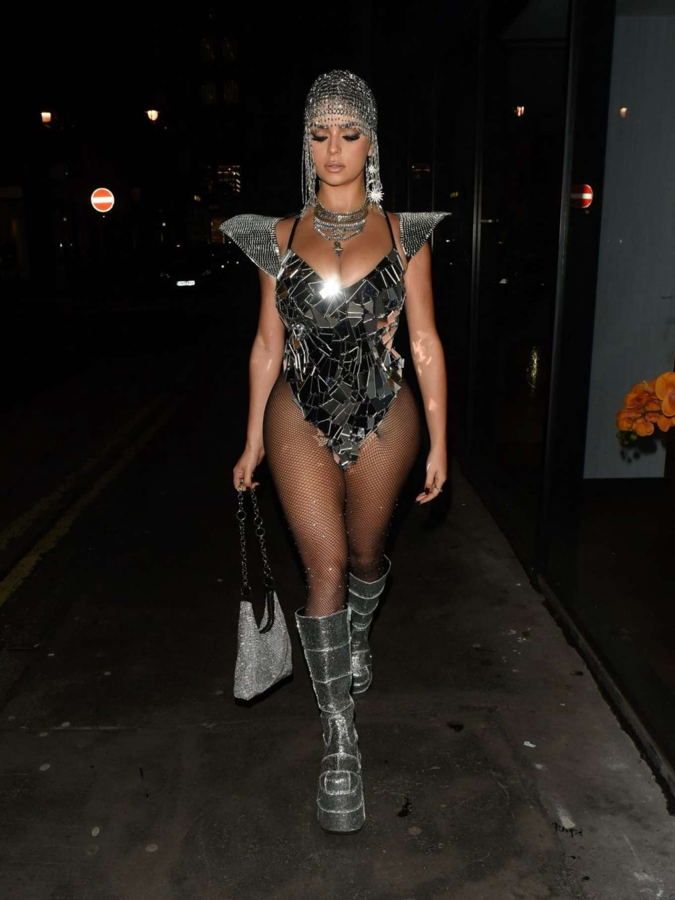 Demi Rose 2019 : Demi Rose – Heading to Halloween Party in Mayfair-04