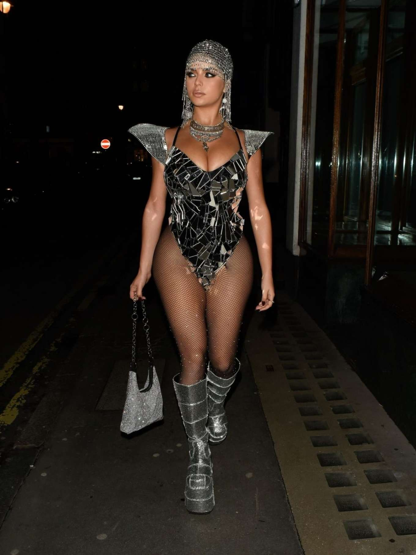 Demi Rose 2019 : Demi Rose – Heading to Halloween Party in Mayfair-06