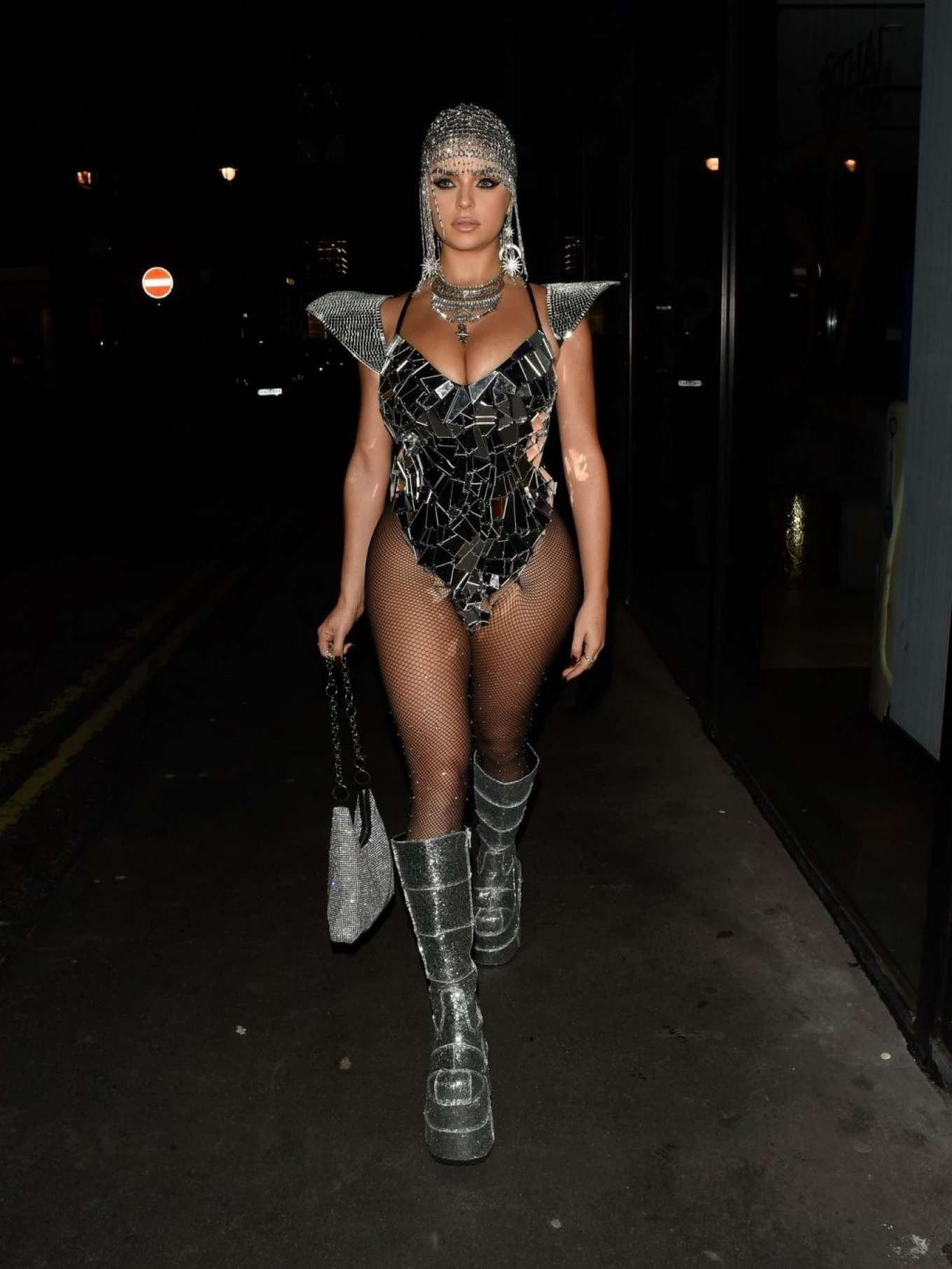 Demi Rose 2019 : Demi Rose – Heading to Halloween Party in Mayfair-08