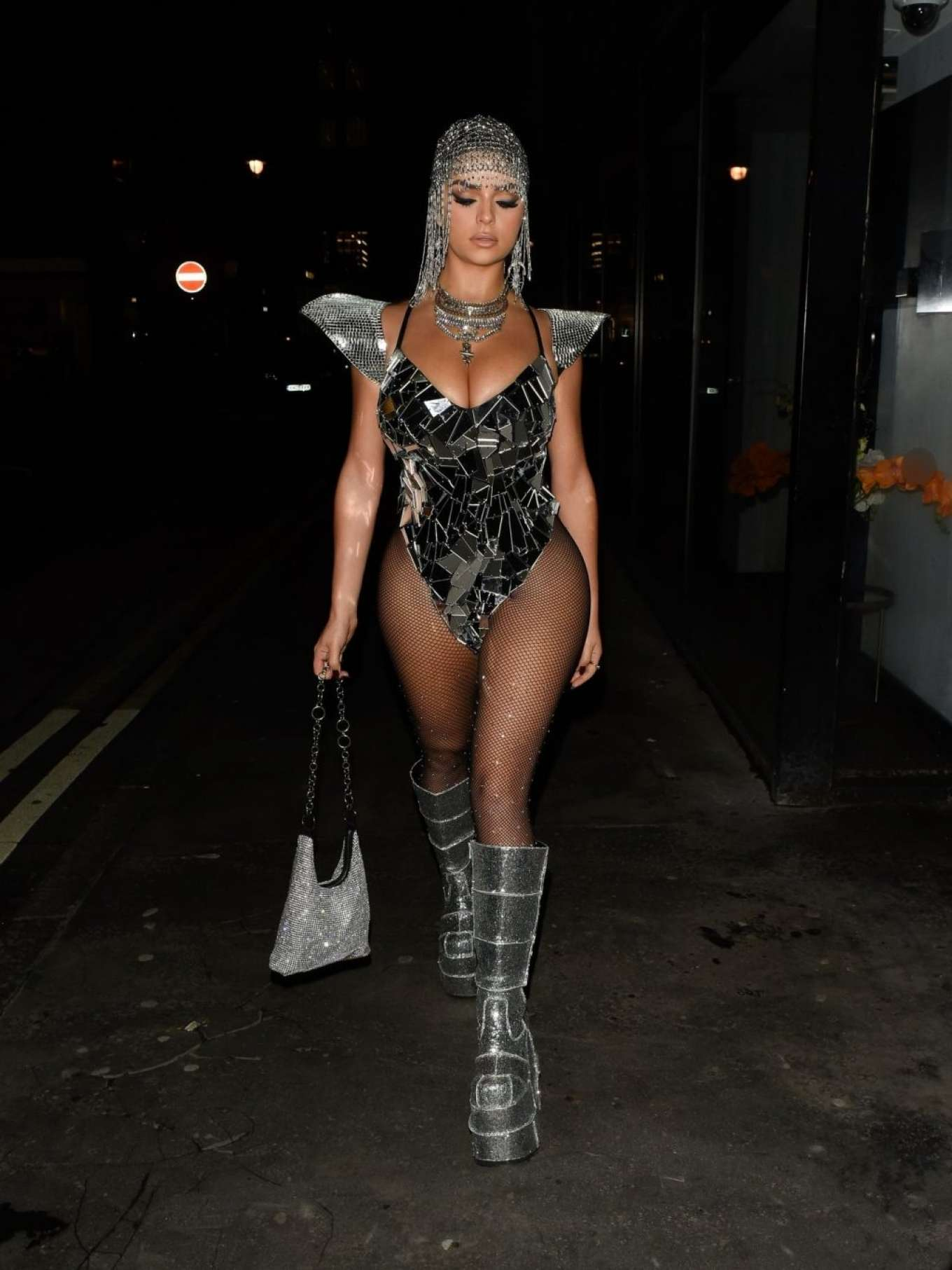 Demi Rose 2019 : Demi Rose – Heading to Halloween Party in Mayfair-13