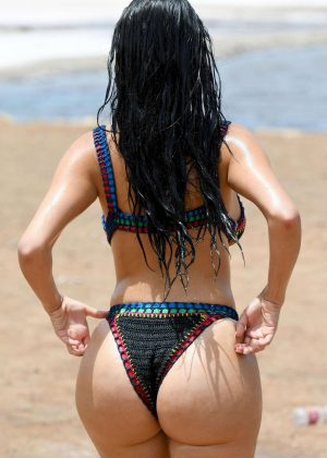 Demi Rose in Pink Bikini at a Beach in Cape Verde Pic 10 of 35