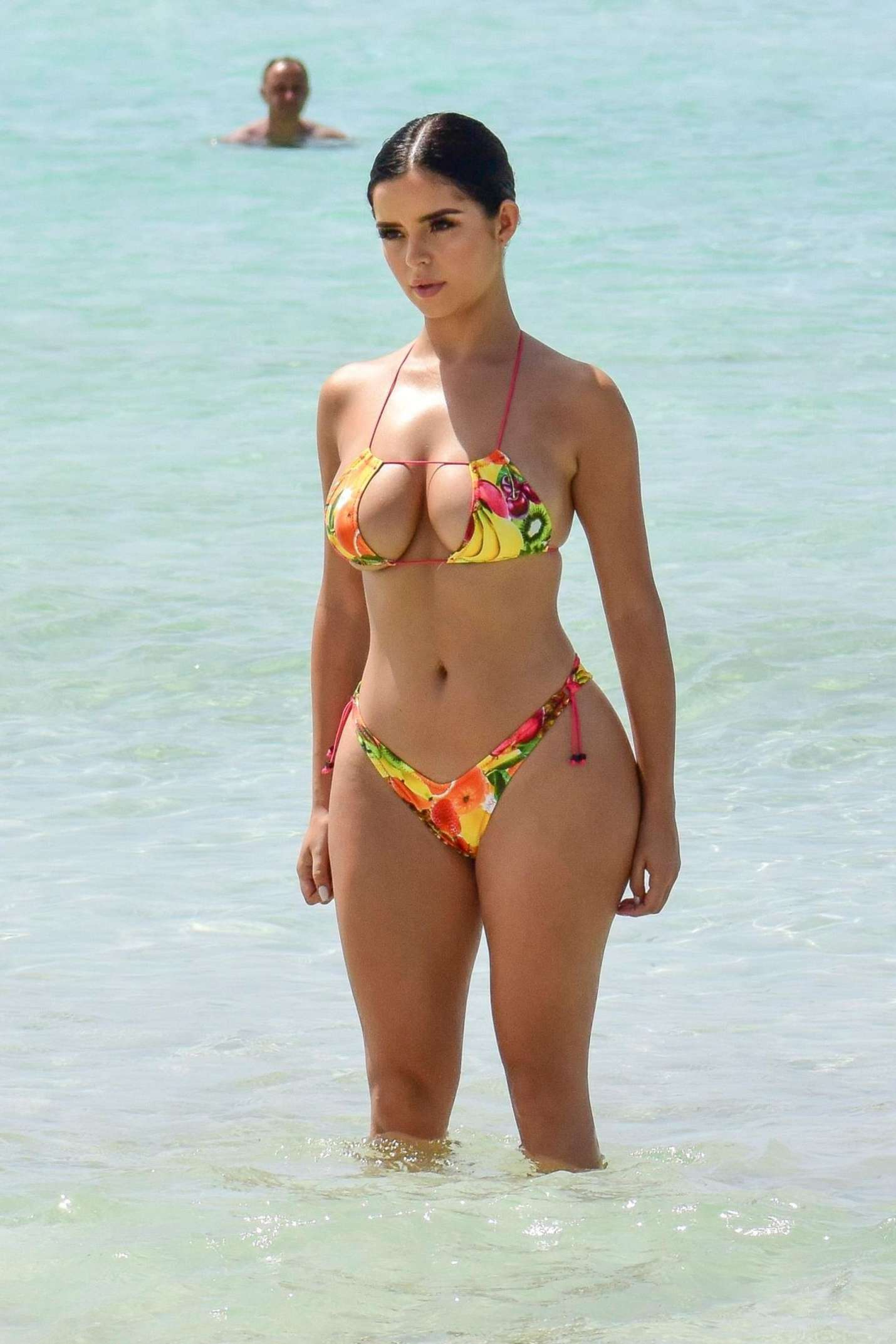 Demi Rose in Bikini on ihe beach in Ibiza