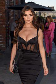 Demi Rose in Black Dress - Arriving at Tao restaurant in Los Angeles