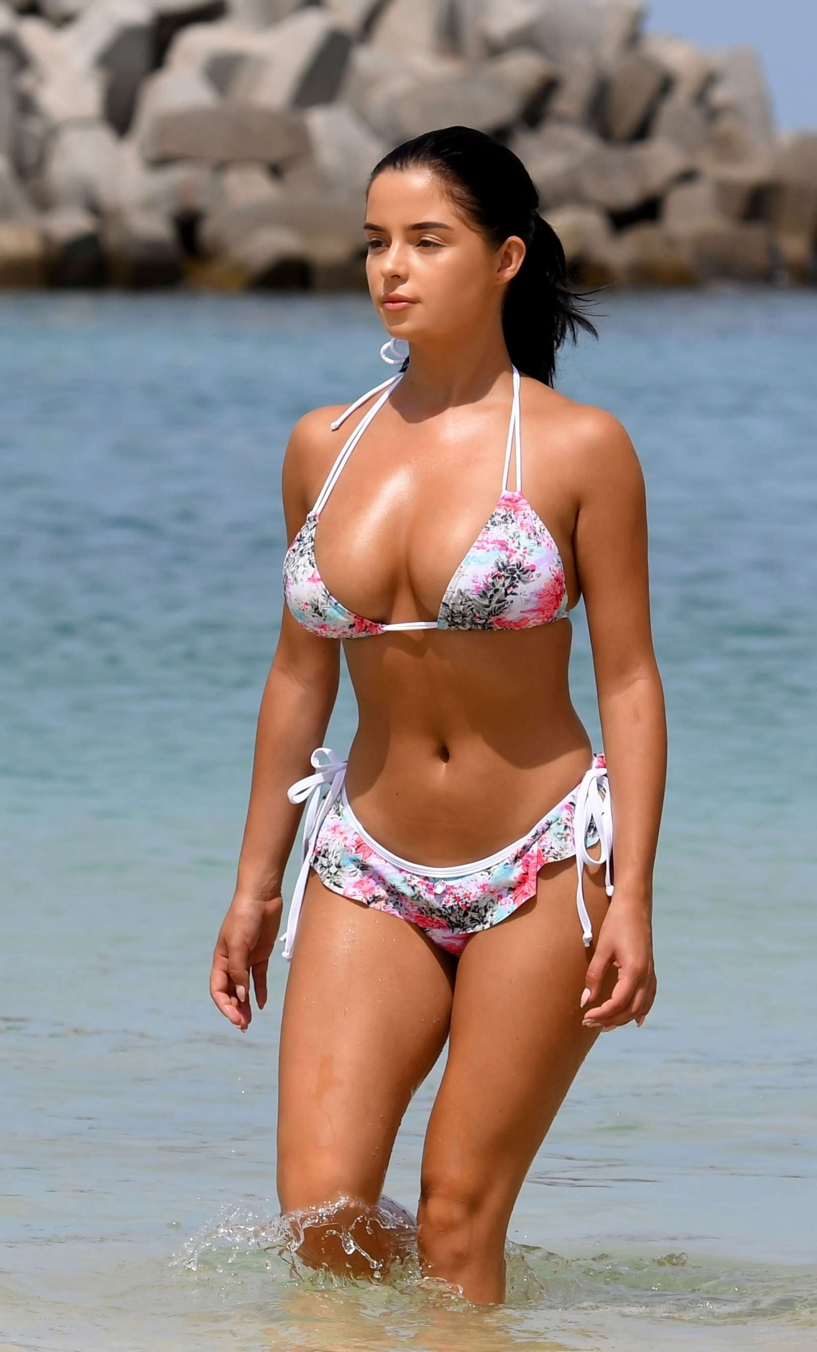 Demi Rose in Floral Bikini in Cape Verde