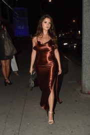 Demi Rose in Long Dress - Night out in Hollywood