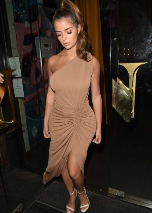 Demi Rose in Long Dress - Out in Manchester