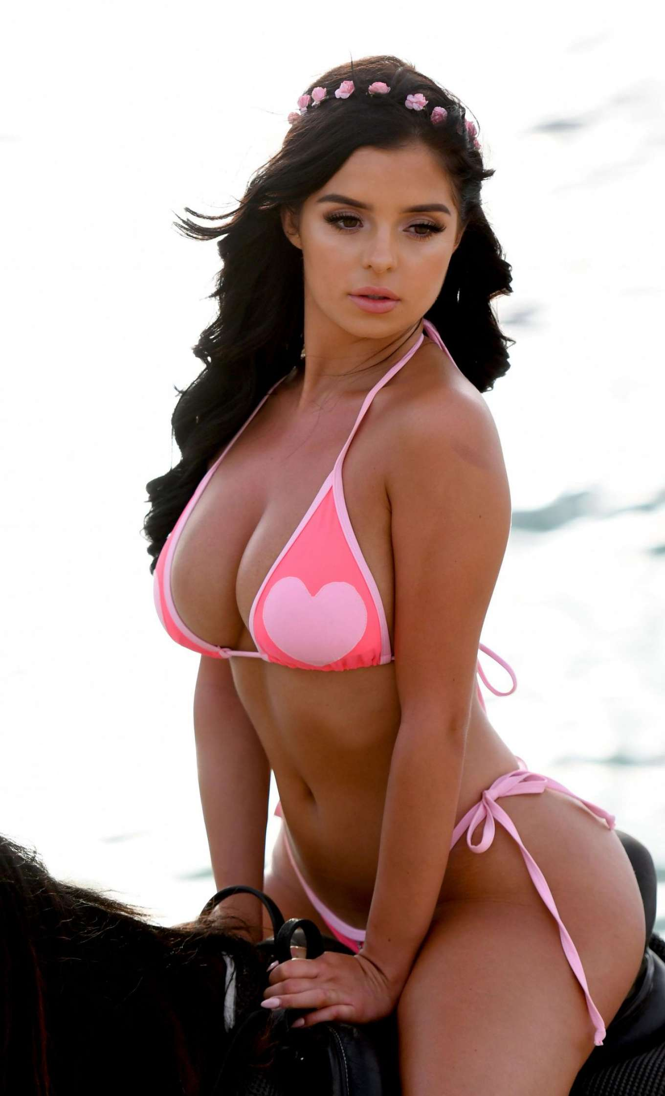 Demi Rose in Pink Bikini at a Beach in Cape Verde Pic 1 of 35