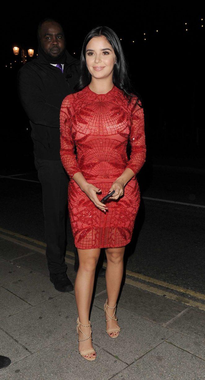 Demi Rose in Red Dress -08