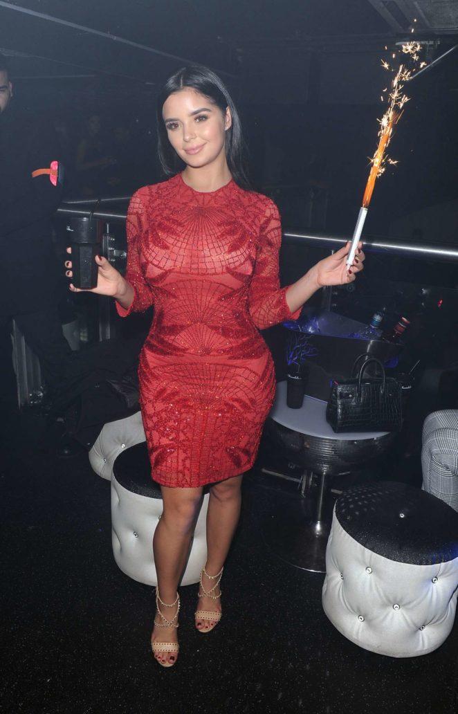 Demi Rose in Red Dress -11