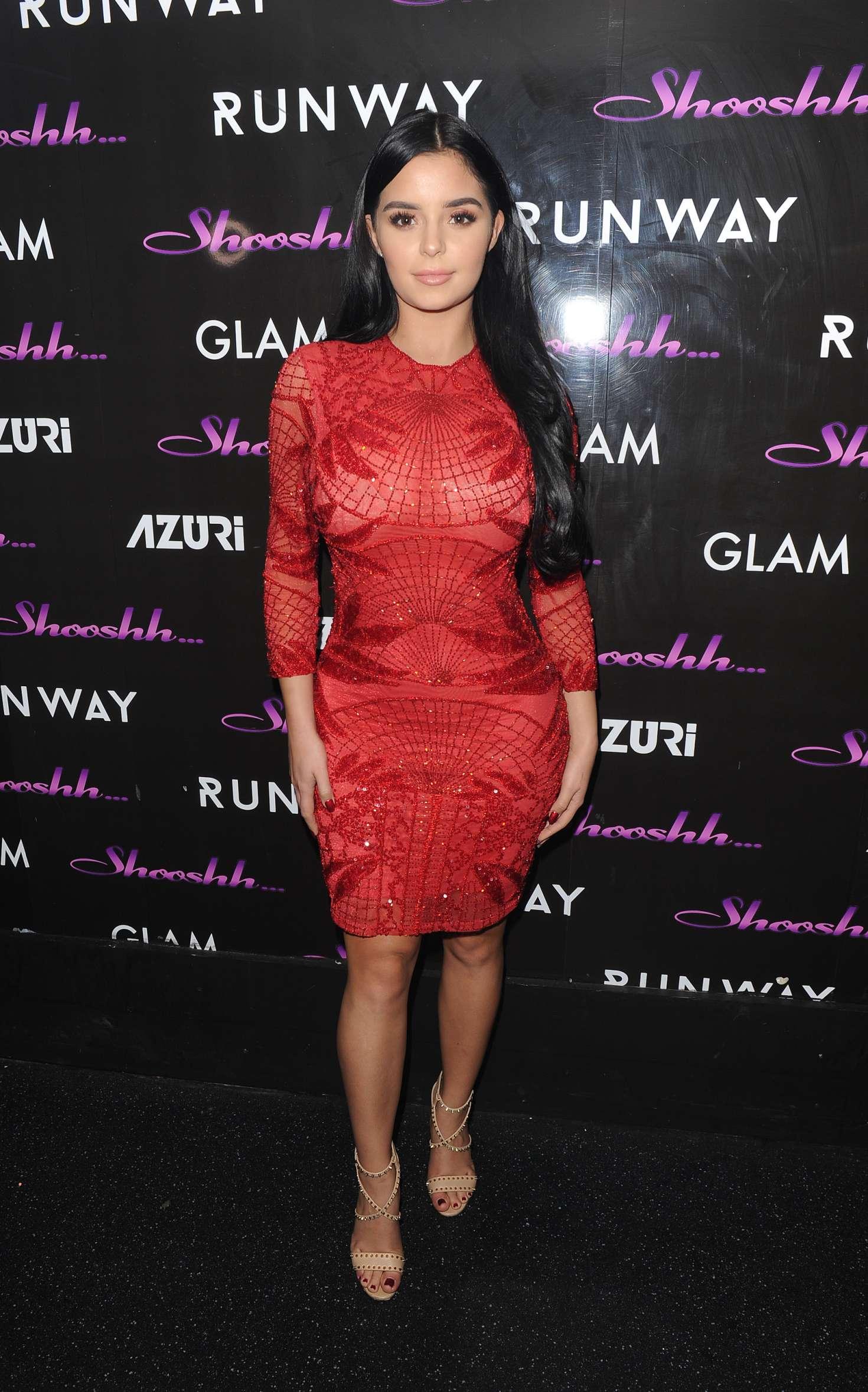 Demi Rose In Red Dress 13 Gotceleb