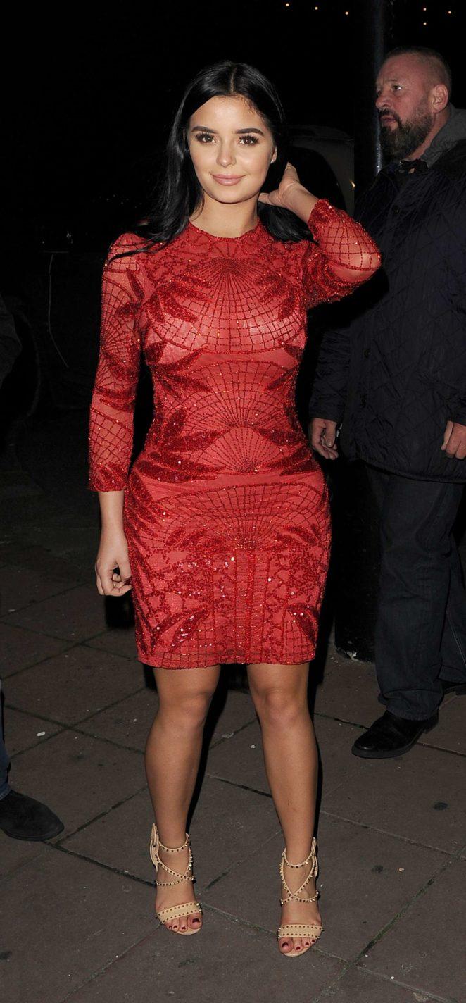 Demi Rose in Red Dress -15