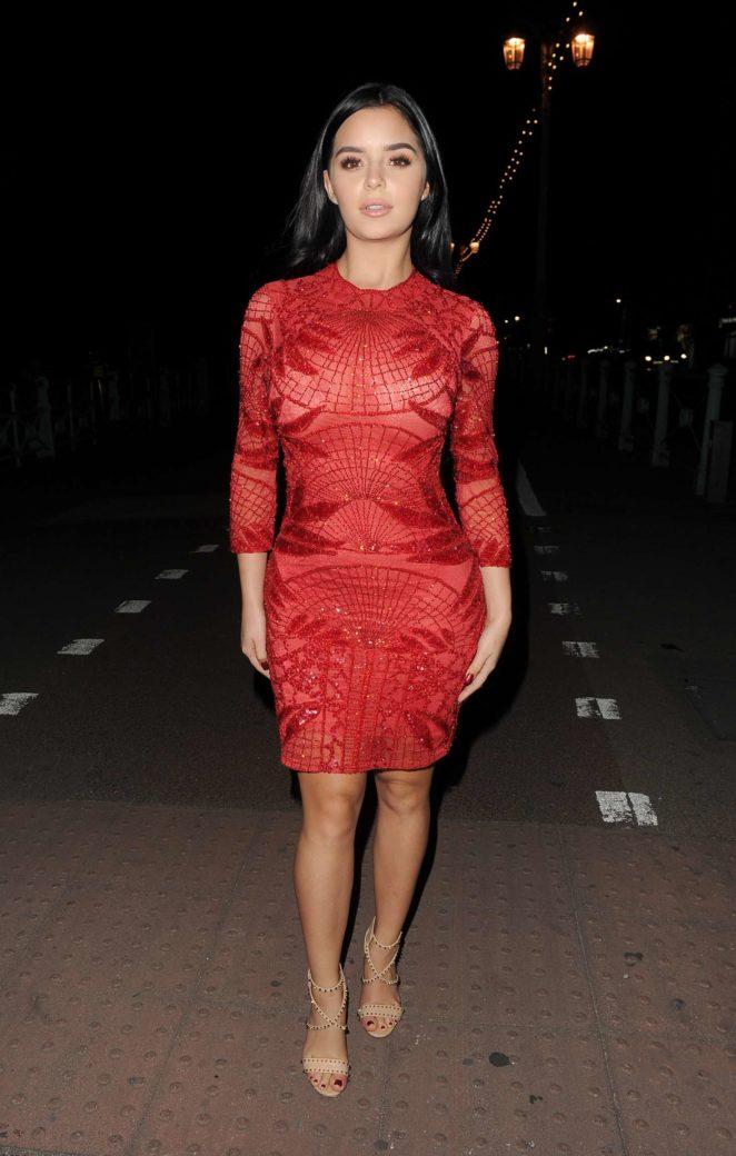 Demi Rose in Red Dress -19