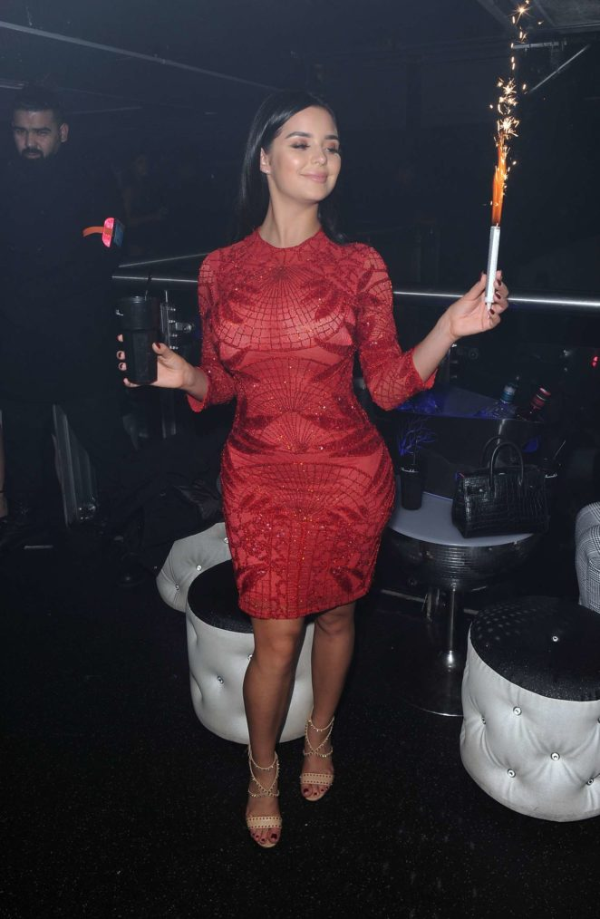 Demi Rose in Red Dress -23