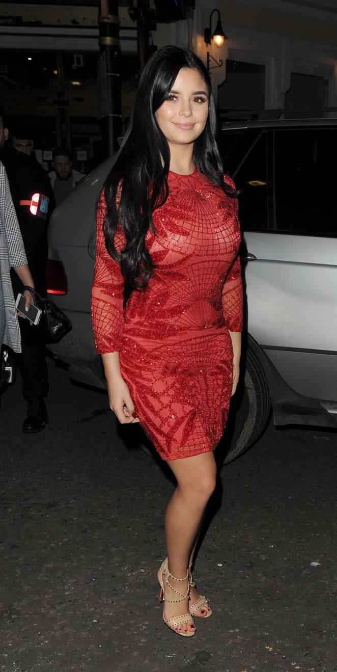 Demi Rose in Red Dress -25