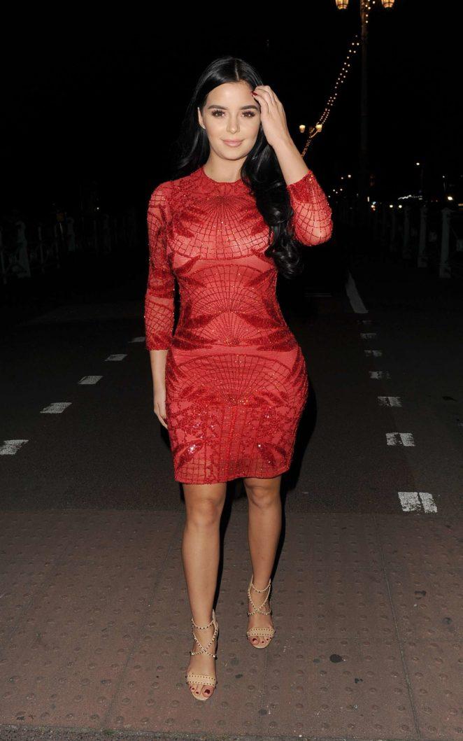Demi Rose in Red Dress -27