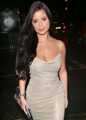 Demi Rose in Tight Dress Heading To Dinner in Mayfair