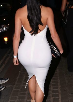 Demi Rose In White Tight Dress Night Out At Mayfair In