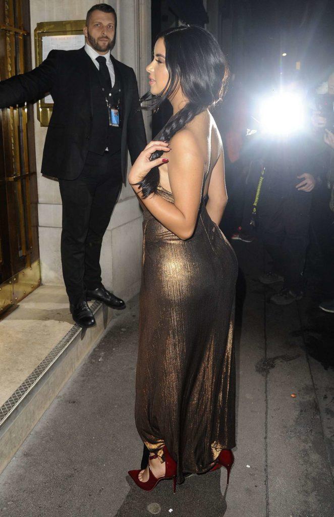Demi Rose Leaving House Of Cb Christmas Dinner 02 Gotceleb