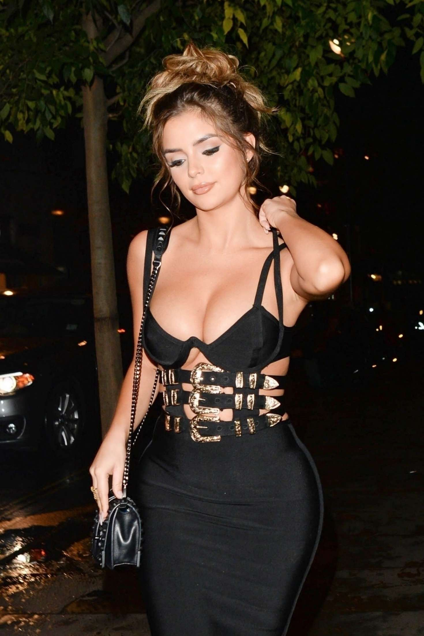 Demi Rose - Leaving Toyroom nightclub in London