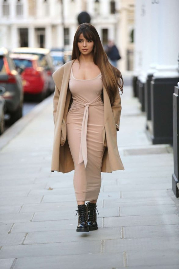 Demi Rose Mawby - Pictured at Pop Up Boutique in London